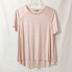 Zara Short Sleeve Blush top with slight shimmer L